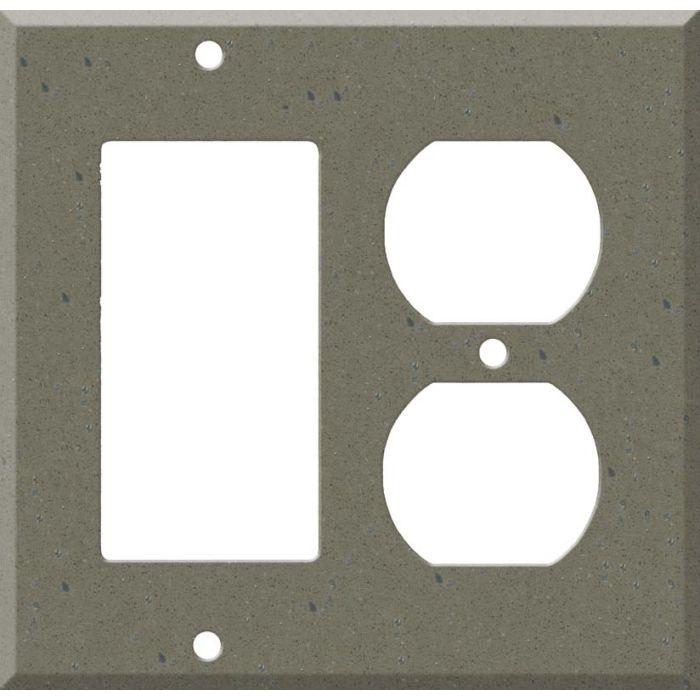 Corian Serene Sage Combination GFCI Rocker / Duplex Outlet Wall Plates