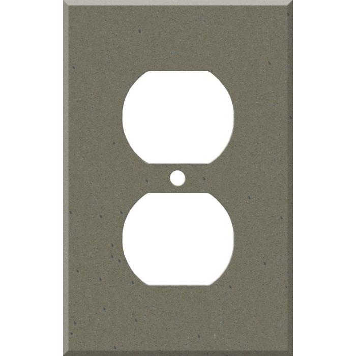 Corian Serene Sage 1 - Gang Duplex Outlet Cover Wall Plate