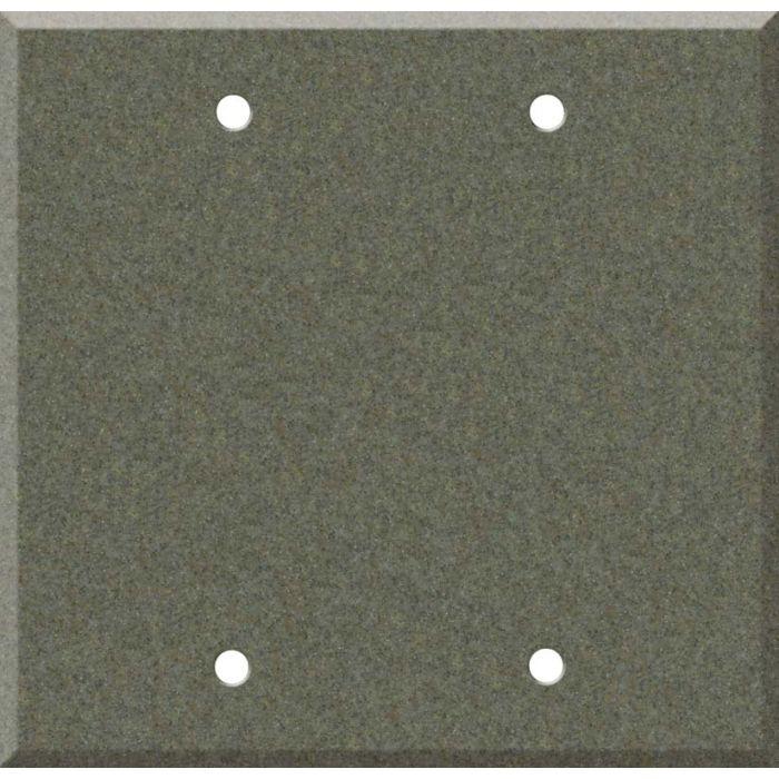 Corian Silt Double Blank Wallplate Covers