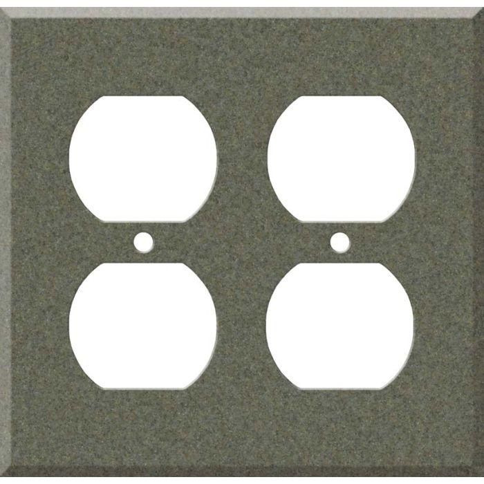 Corian Silt 2 Gang Duplex Outlet Wall Plate Cover