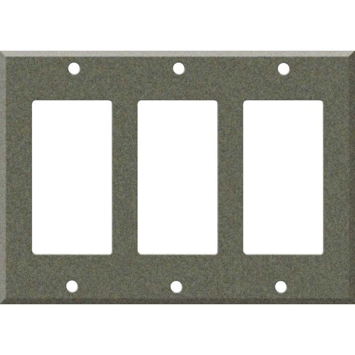 Corian Silt Triple 3 Rocker GFCI Decora Light Switch Covers