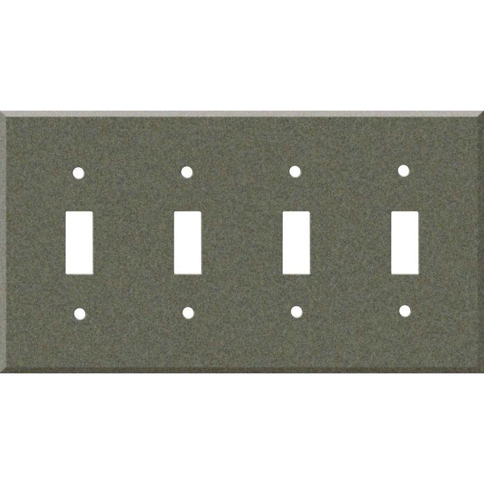 Corian Silt Quad 4 Toggle Light Switch Covers