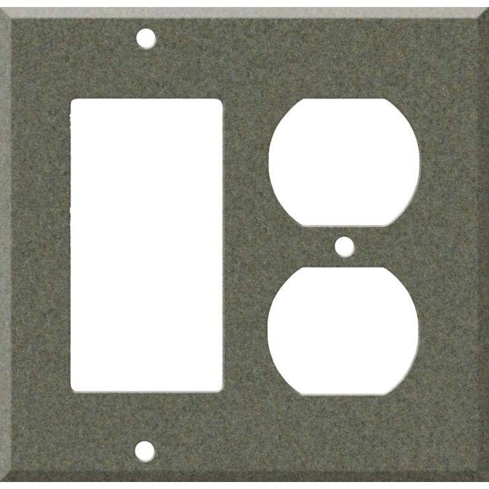 Corian Silt Combination GFCI Rocker / Duplex Outlet Wall Plates