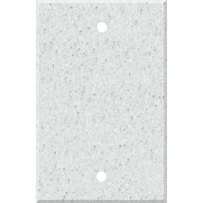 Corian Silver Birch 1 Gang Blank Wall Plates