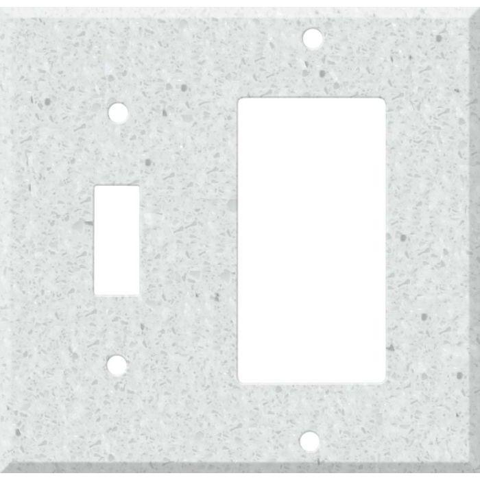 Corian Silver Birch Combination 1 Toggle / Rocker GFCI Switch Covers