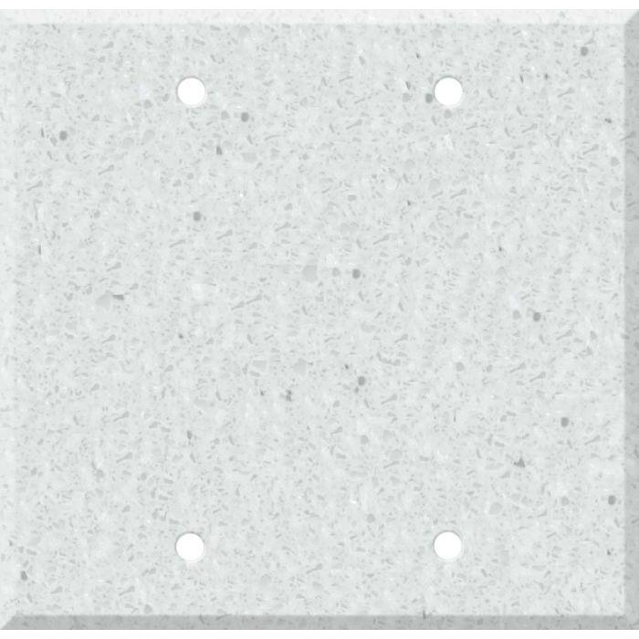 Corian Silver Birch Double Blank Wallplate Covers