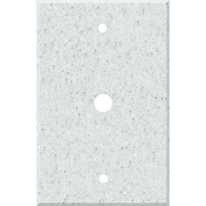 Corian Silver Birch Coax Cable TV Wall Plates