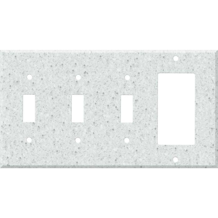 Corian Silver Birch Triple 3 Toggle / 1 Rocker GFCI Switch Covers