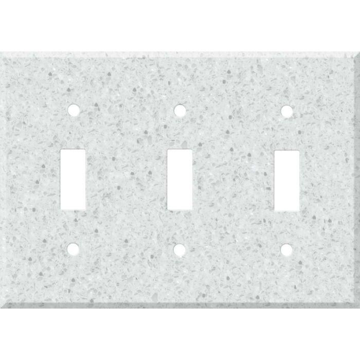 Corian Silver Birch Triple 3 Toggle Light Switch Covers