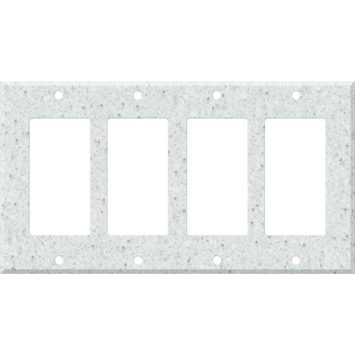 Corian Silver Birch 4 Rocker GFCI Decorator Switch Plates