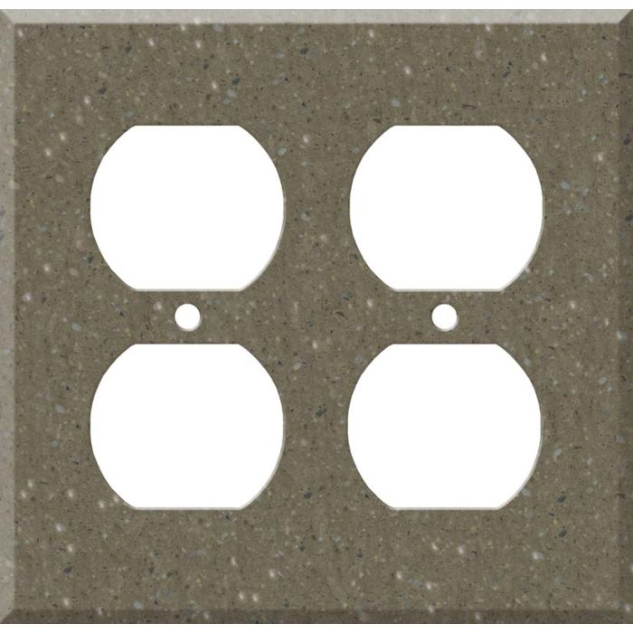 Corian Sonora 2 Gang Duplex Outlet Wall Plate Cover