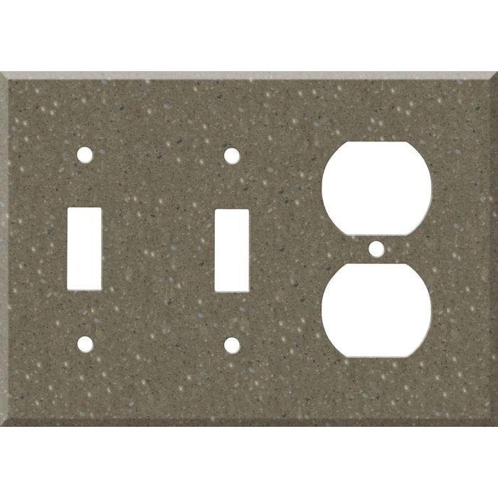 Corian Sonora Double 2 Toggle / Outlet Combination Wall Plates