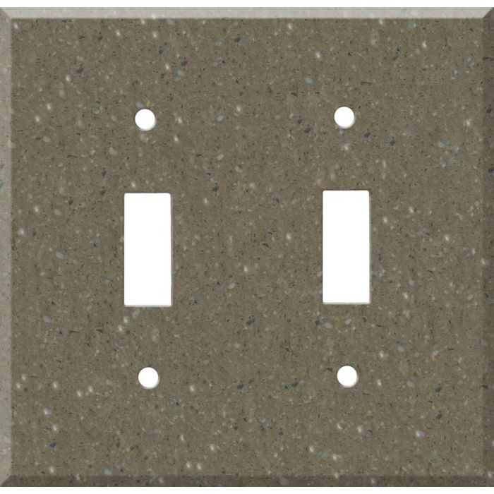 Corian Sonora Double 2 Toggle Switch Plate Covers