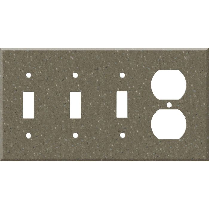 Corian Sonora Combination Triple 3 Toggle / Outlet Wall Plate Covers