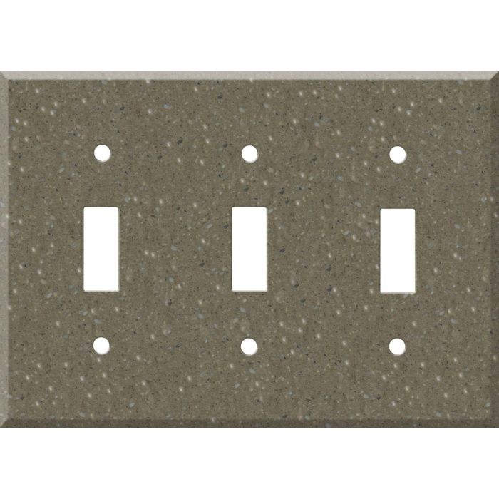 Corian Sonora Triple 3 Toggle Light Switch Covers