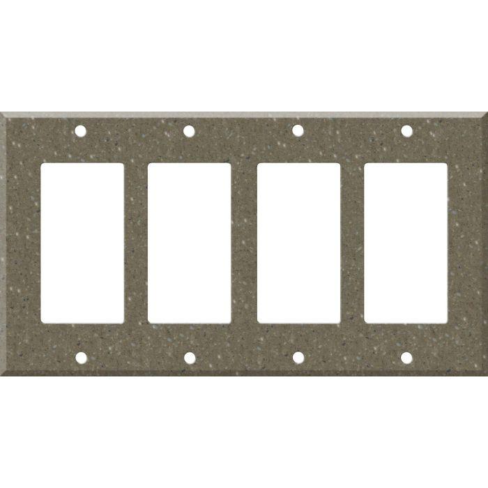 Corian Sonora 4 Rocker GFCI Decorator Switch Plates