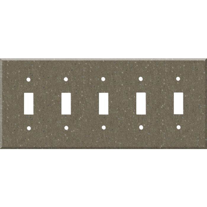 Corian Sonora 5 Toggle Wall Switch Plates