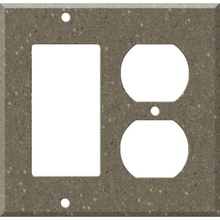Corian Sonora Combination GFCI Rocker / Duplex Outlet Wall Plates