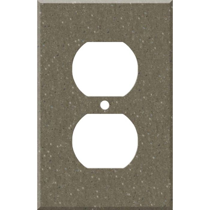 Corian Sonora 1 Gang Duplex Outlet Cover Wall Plate
