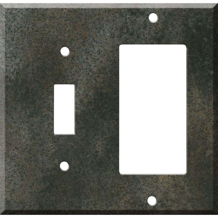 Corian Sorrel 1 Toggle Wall Switch Plate - GFI Rocker Cover Combo