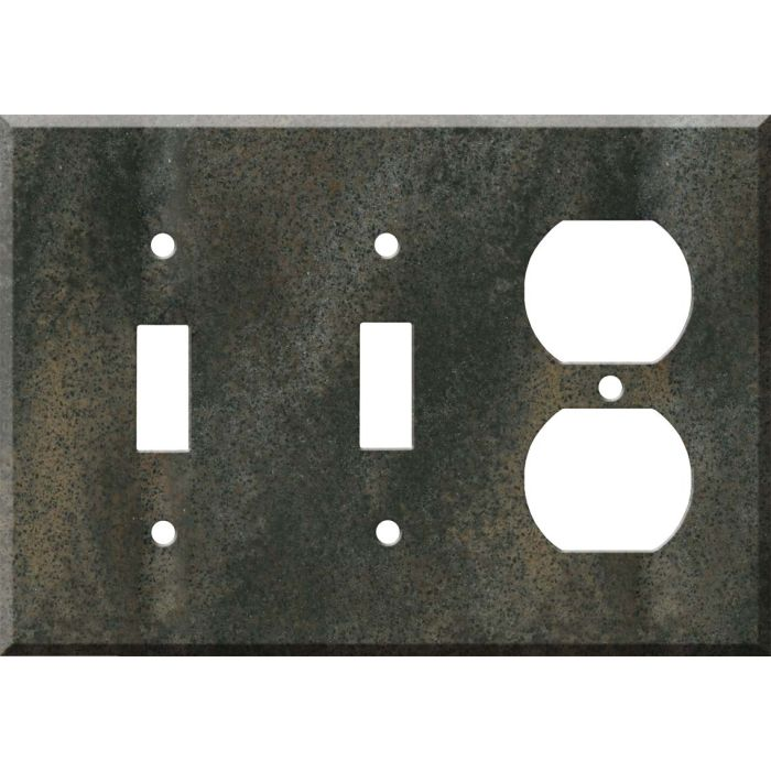 Corian Sorrel Double 2 Toggle / Outlet Combination Wall Plates