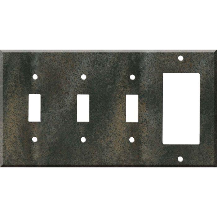 Corian Sorrel 3-Toggle / 1-Decorator / Rocker - Combination Wall Plates