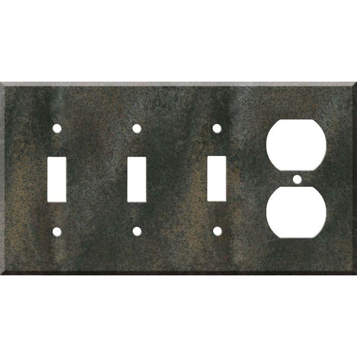 Corian Sorrel 3-Toggle / 1-Duplex - Combination Wall Plates