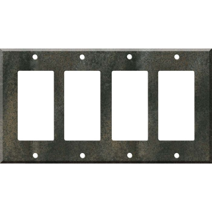 Corian Sorrel 4 Rocker GFCI Decorator Switch Plates