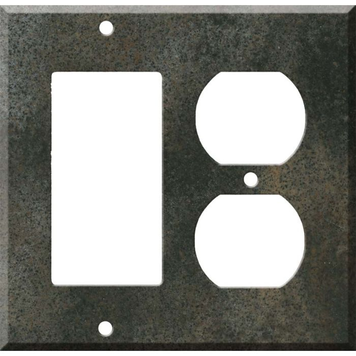 Corian Sorrel Decora GFCI Rocker / Duplex Outlet Combination Wall Plate