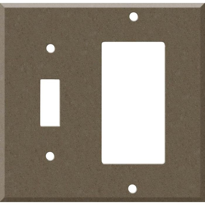 Corian Suede 1 Toggle Wall Switch Plate - GFI Rocker Cover Combo