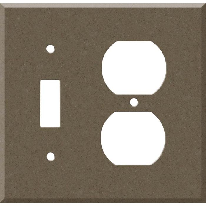 Corian Suede 1 Toggle Wall Switch Plate - Outlet Cover Combination