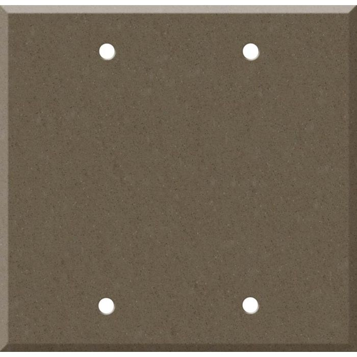 Corian Suede 2 Double Blank Wall Plates