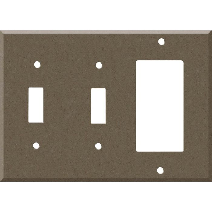 Corian Suede Double 2 Toggle / 1 GFCI Rocker Combo Switchplates