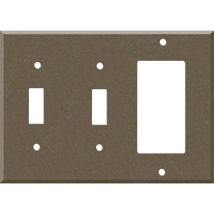 Corian Suede 2-Toggle / 1-GFI Rocker - Combo Switch Covers