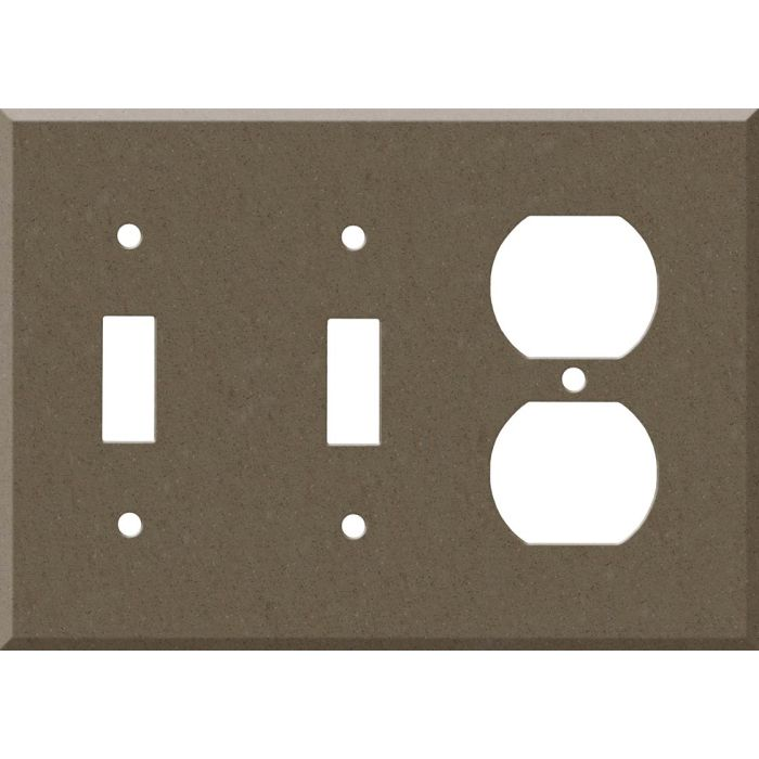 Corian Suede 2-Toggle / 1-Duplex Outlet - Combination Wall Plates