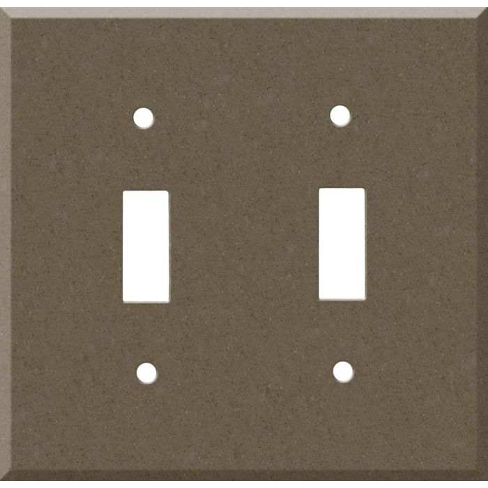 Corian Suede 2 Toggle Switch Plates