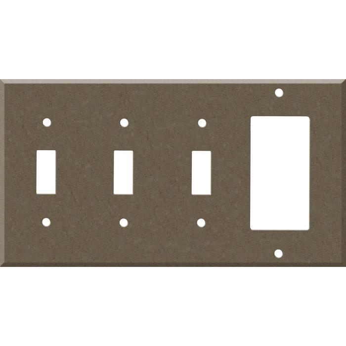 Corian Suede 3-Toggle / 1-Decorator / Rocker - Combination Wall Plates
