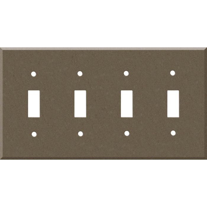 Corian Suede 4 - Toggle Light Switch Covers & Wall Plates