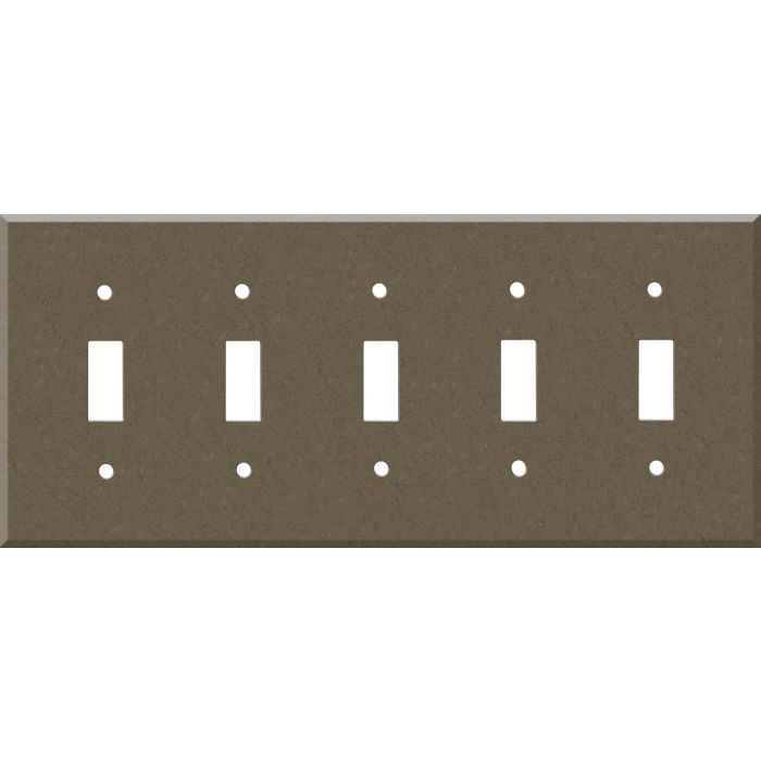 Corian Suede 5 Toggle Light Switch Covers