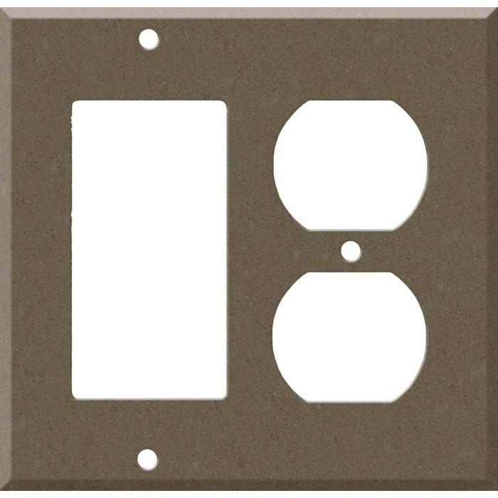 Corian Suede Decora GFCI Rocker / Duplex Outlet Combination Wall Plate