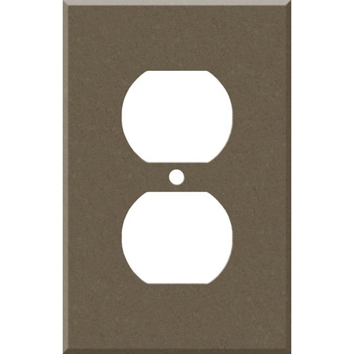 Corian Suede 1 - Gang Duplex Outlet Cover Wall Plate