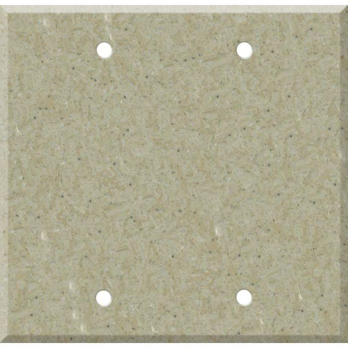 Corian Tumbleweed Double Blank Wallplate Covers