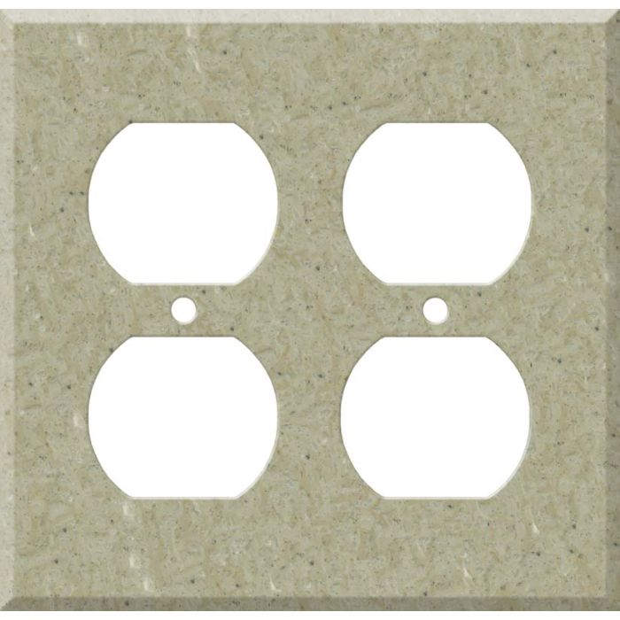 Corian Tumbleweed 2 Gang Duplex Outlet Wall Plate Cover