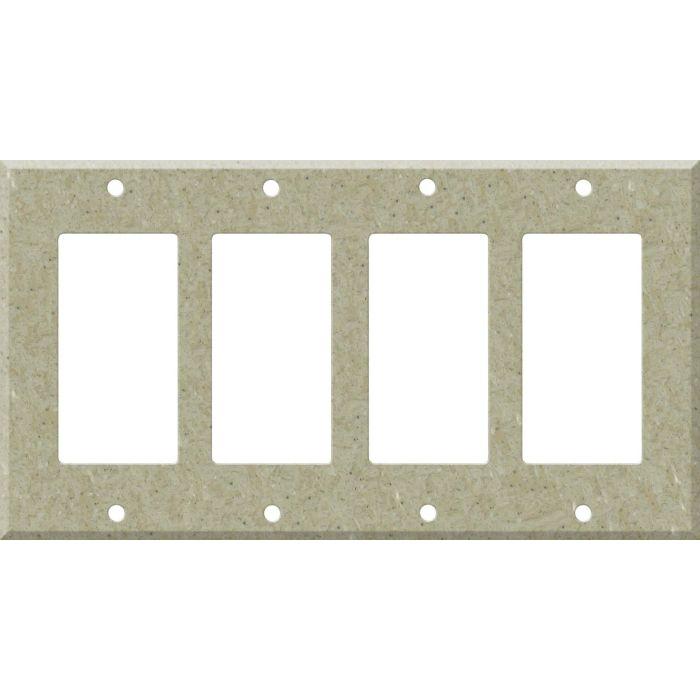 Corian Tumbleweed 4 Rocker GFCI Decorator Switch Plates