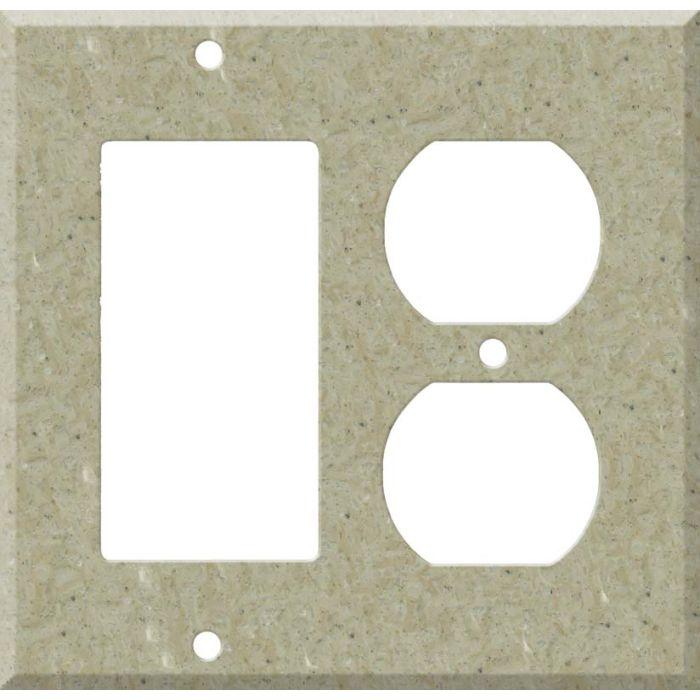 Corian Tumbleweed Combination GFCI Rocker / Duplex Outlet Wall Plates