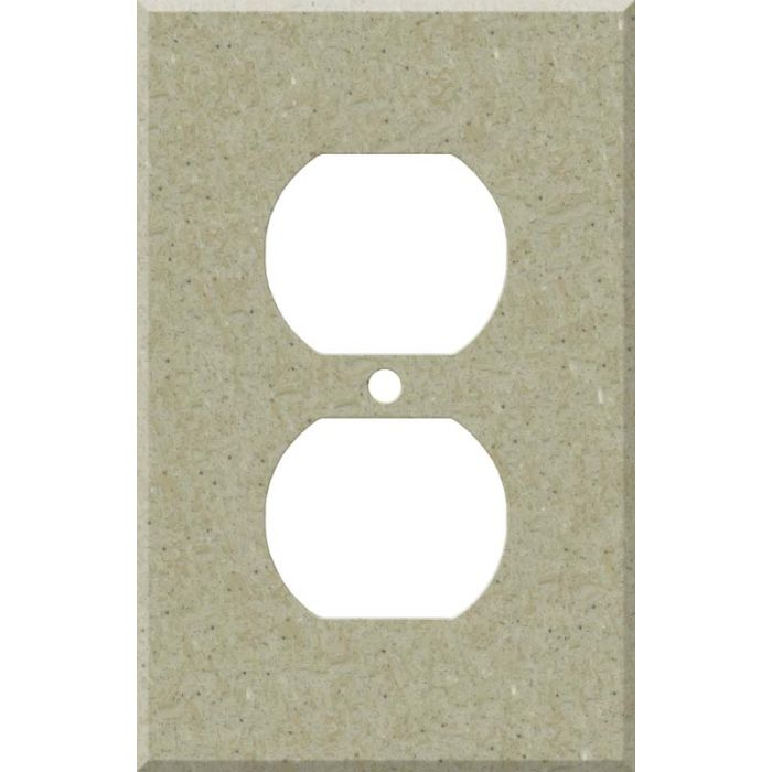 Corian Tumbleweed 1 Gang Duplex Outlet Cover Wall Plate