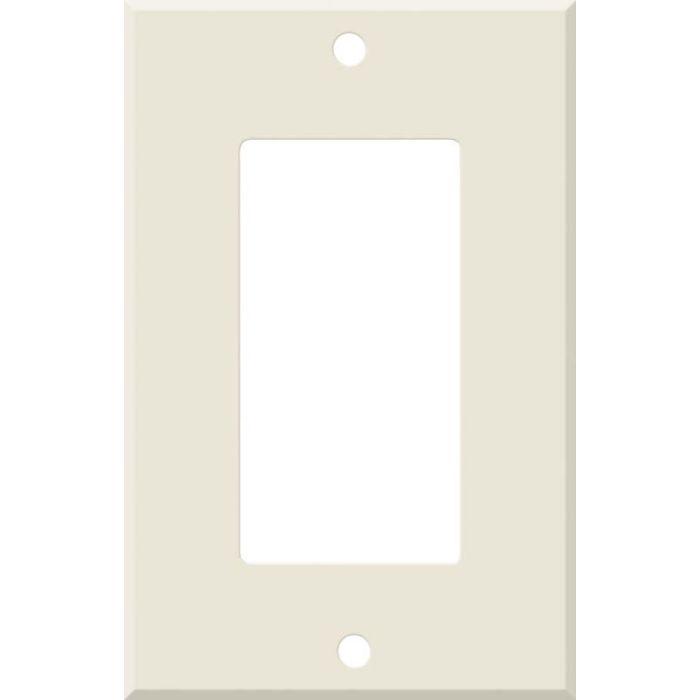 Corian Vanilla Single 1 Gang GFCI Rocker Decora Switch Plate Cover