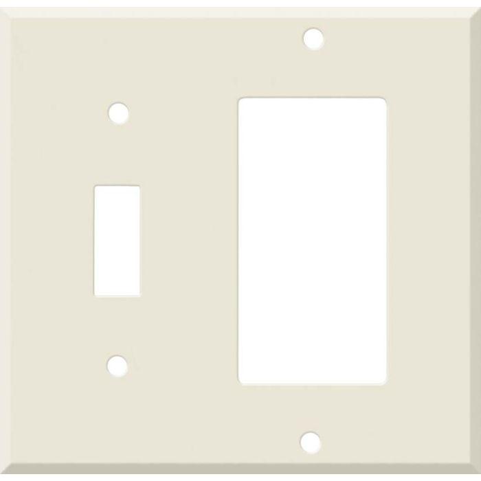 Corian Vanilla Combination 1 Toggle / Rocker GFCI Switch Covers