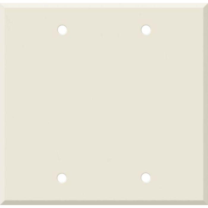 Corian Vanilla Double Blank Wallplate Covers