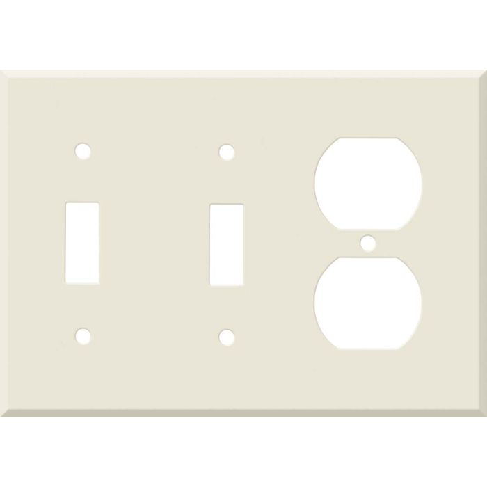 Corian Vanilla Double 2 Toggle / Outlet Combination Wall Plates